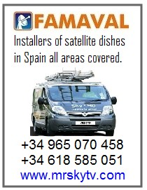 BIG SATELLITE DISH SPAIN FAMAVAL 1.9 2.4 3.1 SATELLITE DISHES SPAIN