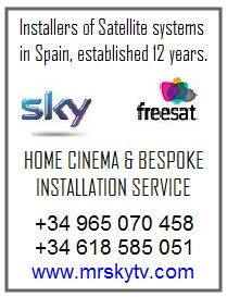 FAMAVAL BIG SATELLITE DISH SPAIN - SKY TV SPAIN - SKY TV TORREVIEJA ALICANTE MURCIA SPAIN