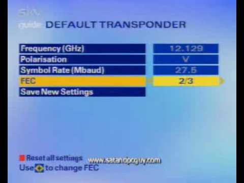 Change default transponder sky+hd box spain new frequency 12.207 sky guy pc sat digital box hd new frequency