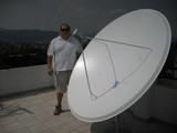 BIG SATELLITE DISHES MALAGA MARBELLA SPAIN