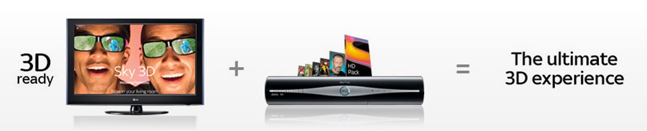 sky 3d tv - iNFORMATION ABOUT THE NEW SKY+HD 3D SATELLITE RECEIVER FROM SKY - DETAILS AND HOW TO ORDER, COMPATIBLE WITH HD AND NON HD TV'S BY USING