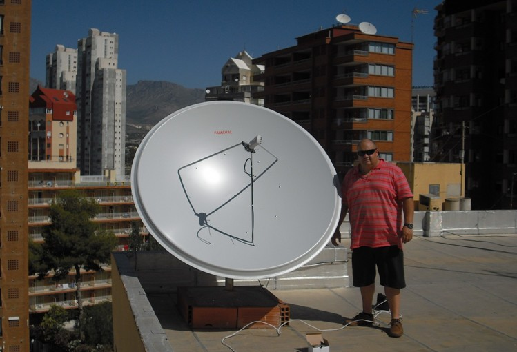 sky tv spain 1.9 famaval dish special offer fully fitted Alicante, Benidorm, Torrevieja, Calpe FREESAT TV SPAIN